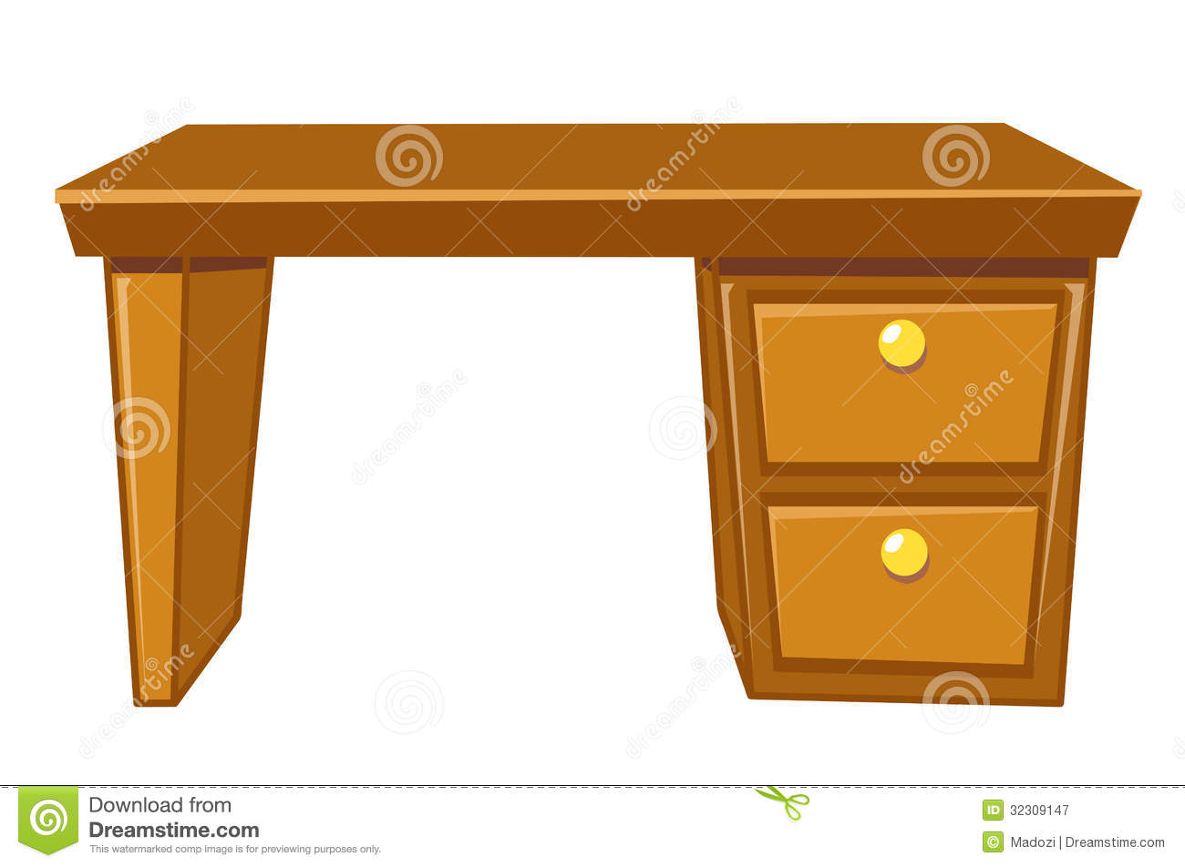 Office Desk Isolated Royalty Free Stock Photography