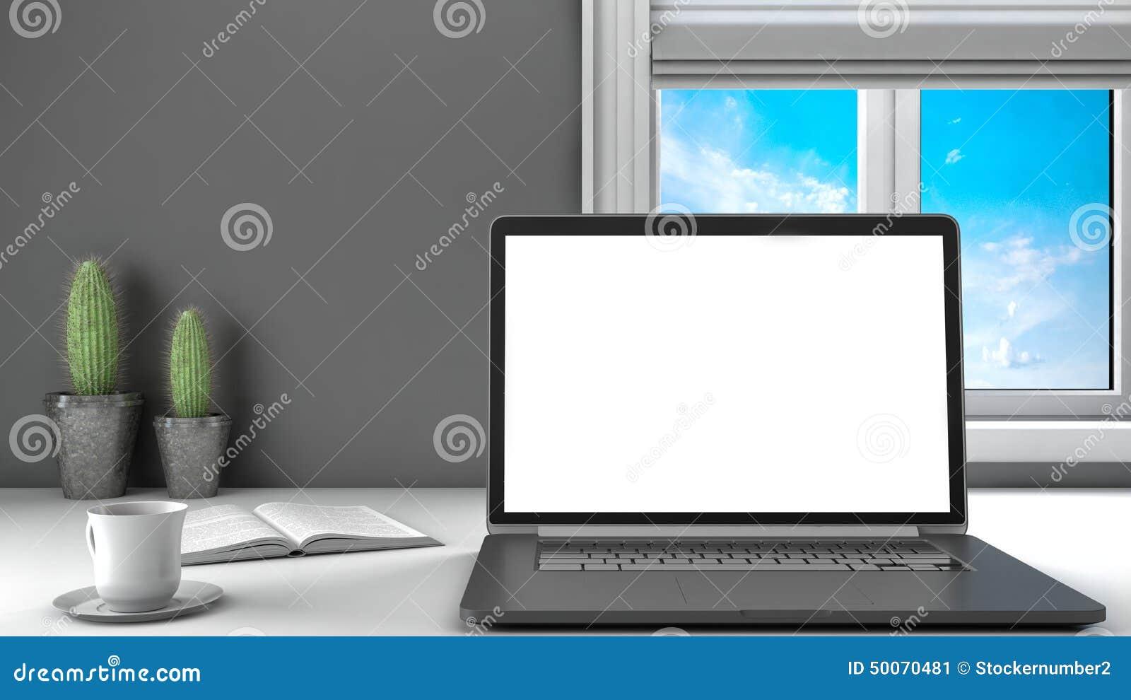 laptop office desk. Office Desk. Laptop, Coffee And Window Stock Illustration - Of Desk, Table: 50070481 Laptop Desk A