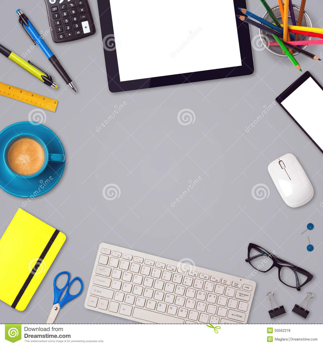office desk mock up template background tablet smartphone office desk mock up template background tablet smartphone and office items