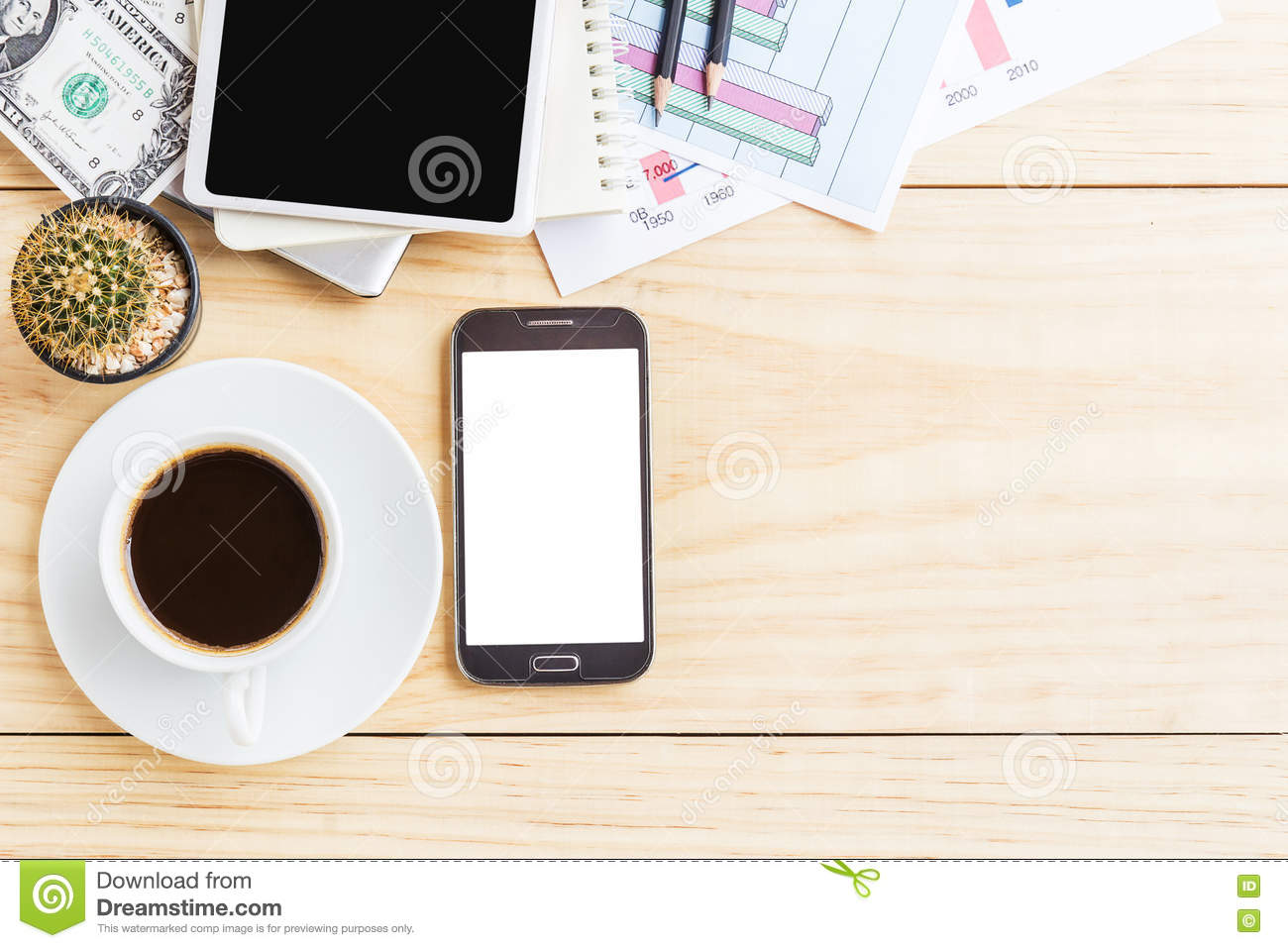 top office table cup. Office Desk Table Laptop Computer Coffee Cup Smart Pho Stock Photos - 10 Images Top N