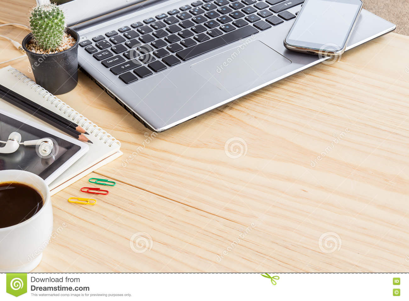 Computer Coffee Table Office Desk Table With Laptop Computer Stock Photo Image 73329346