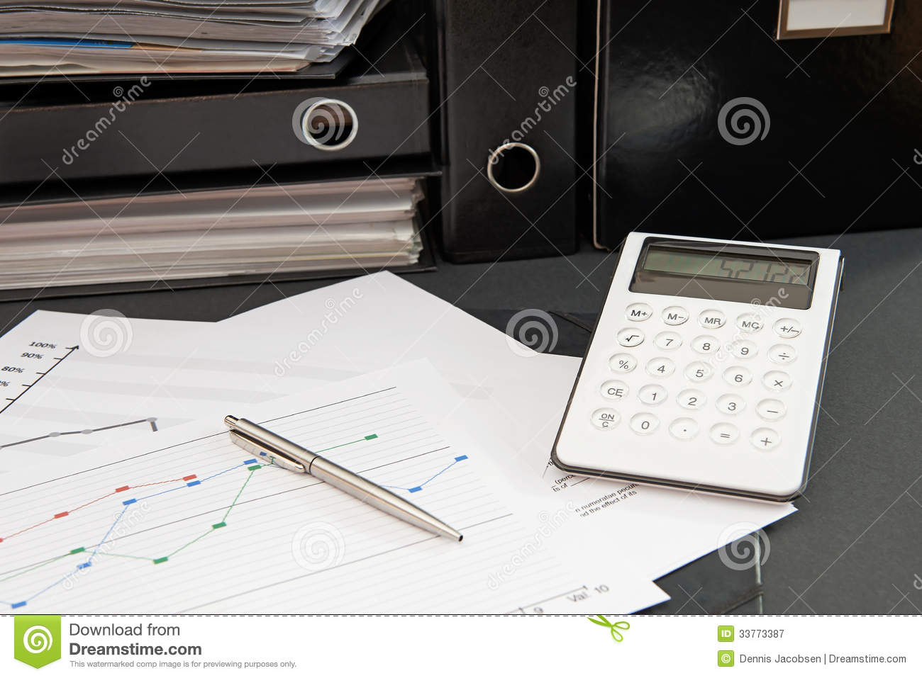 Office Desk Work Stock Image Image Of Graph Ring