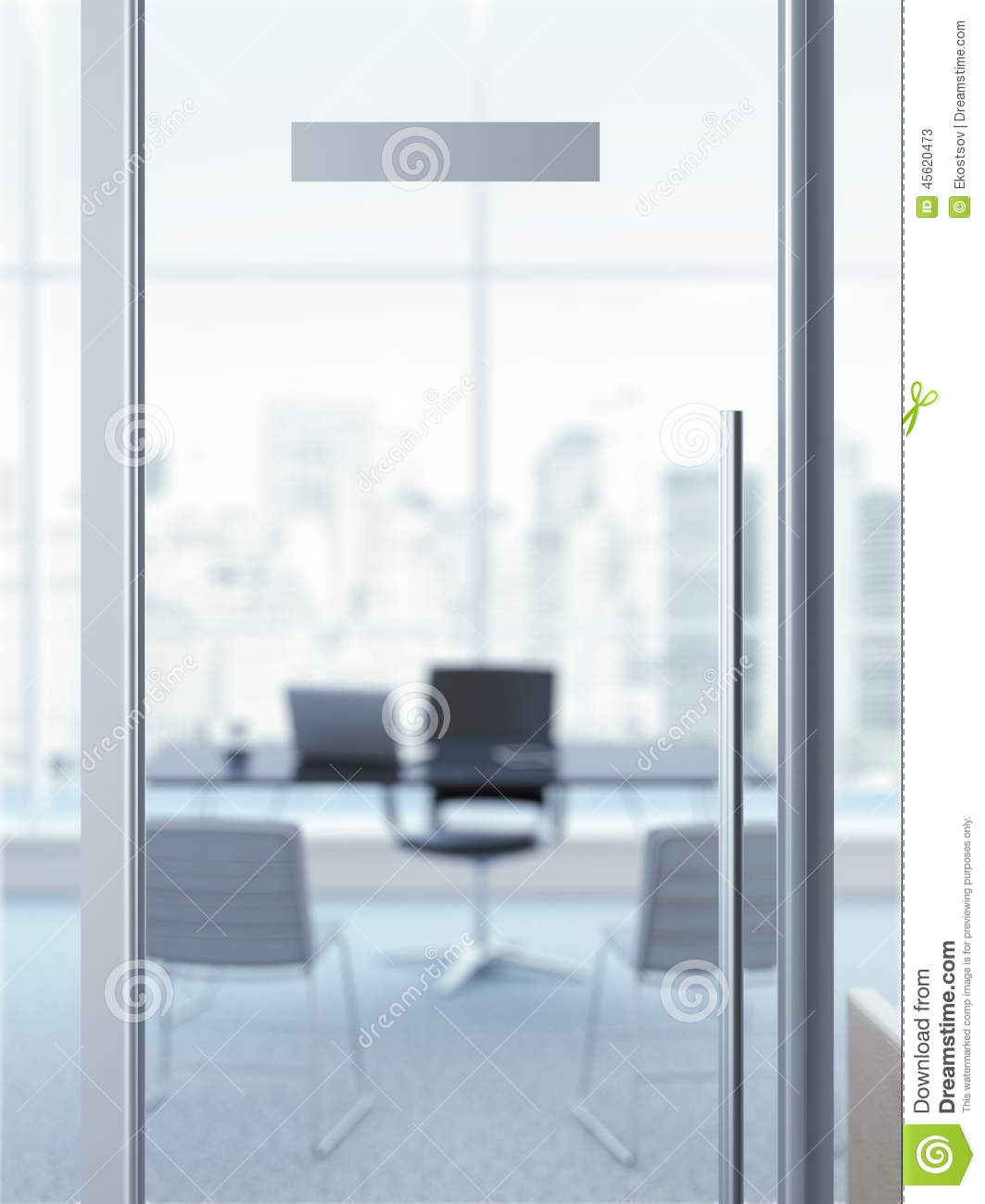Office door with nameplate stock image for Puertas para oficina