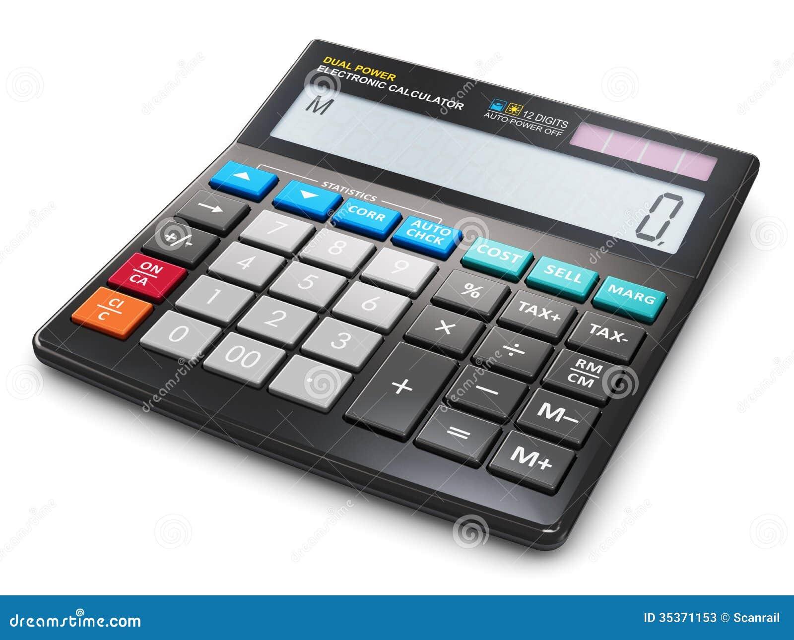 Office Electronic Calculator Stock Photos Image 35371153