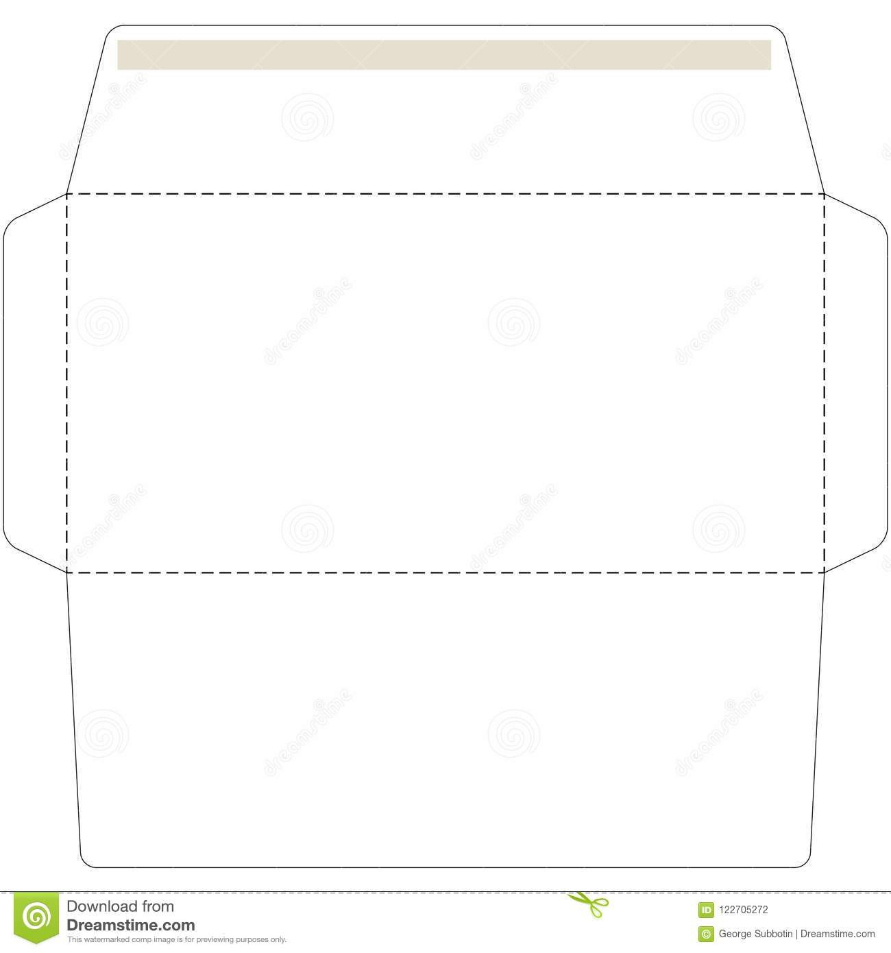 Office Envelope Cut Up Template