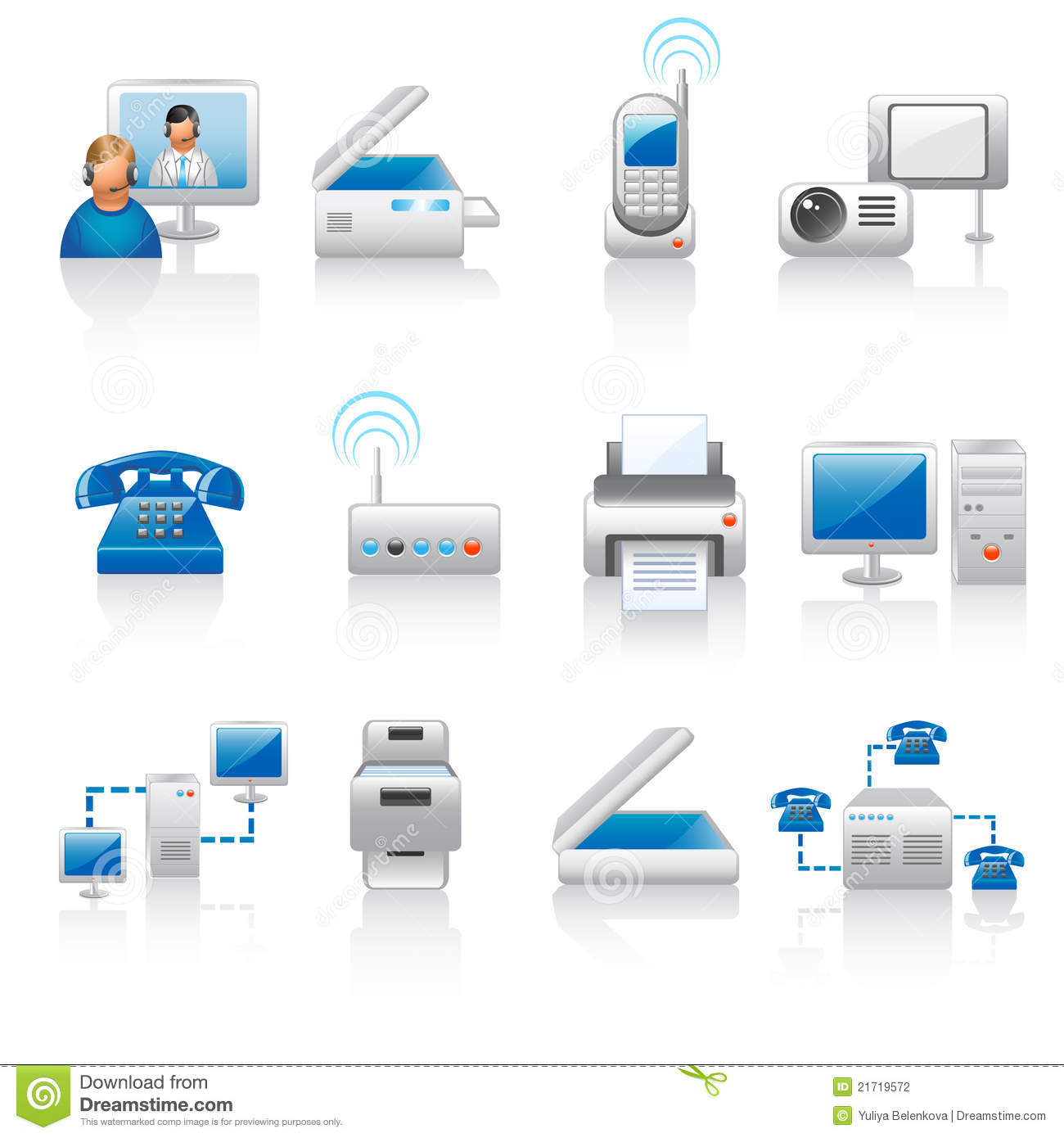 Office Equipment Icons Stock Photography - Image: 21719572