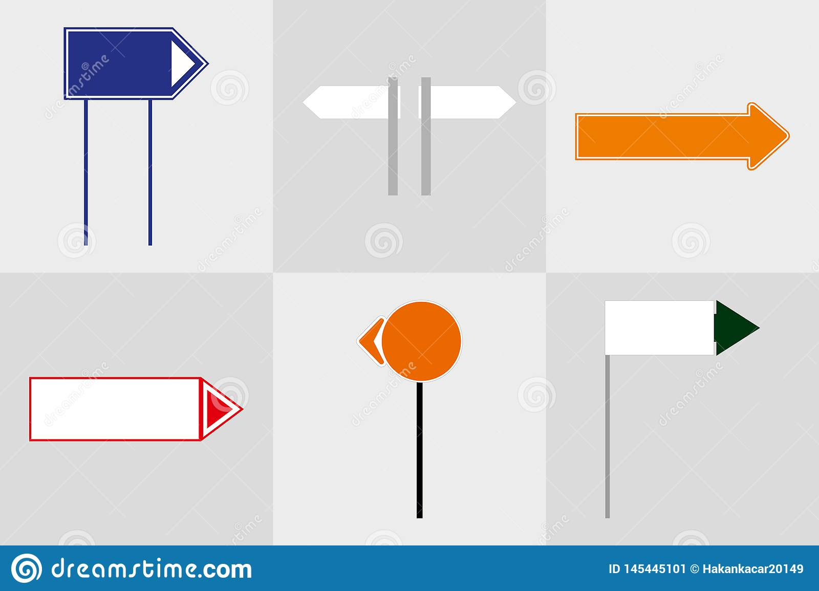 Office exterior monument sign pylon sign signage advertising construction. 3D illustration.