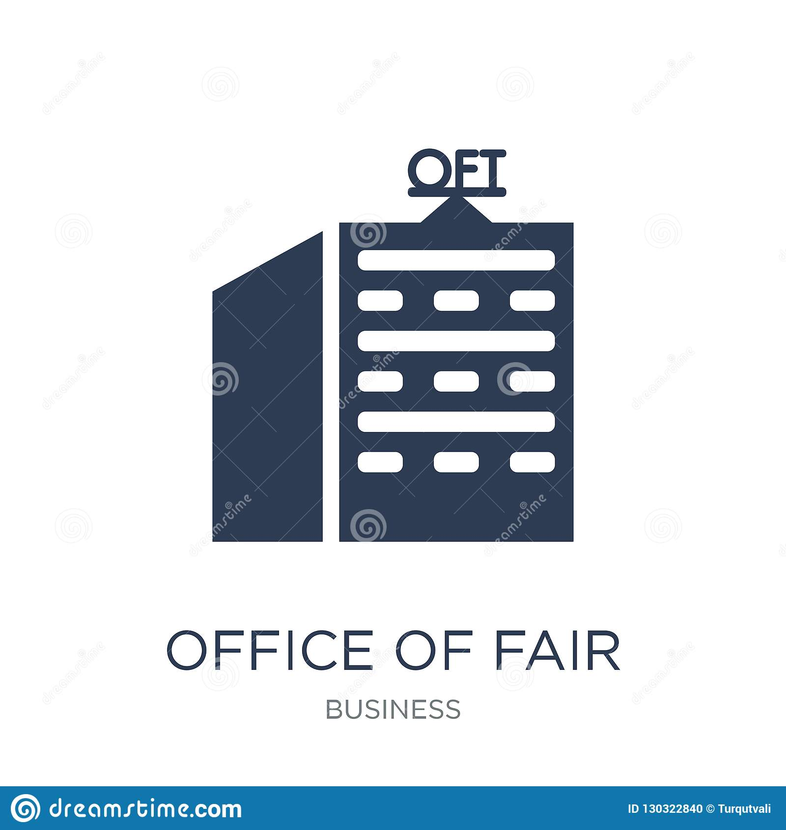 Office of Fair Trading (OFT) icon. Trendy flat vector Office of