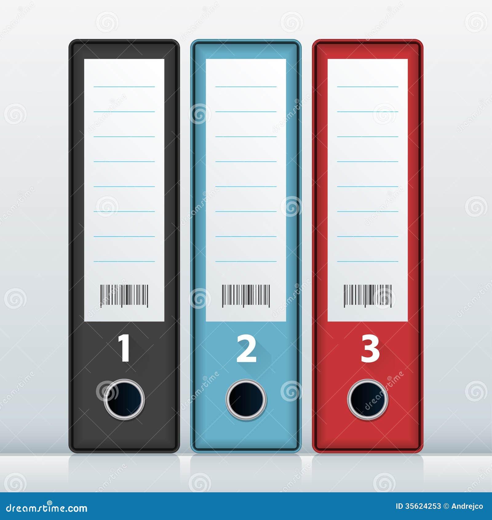 Office Fille Folders Stock Photos Image 35624253