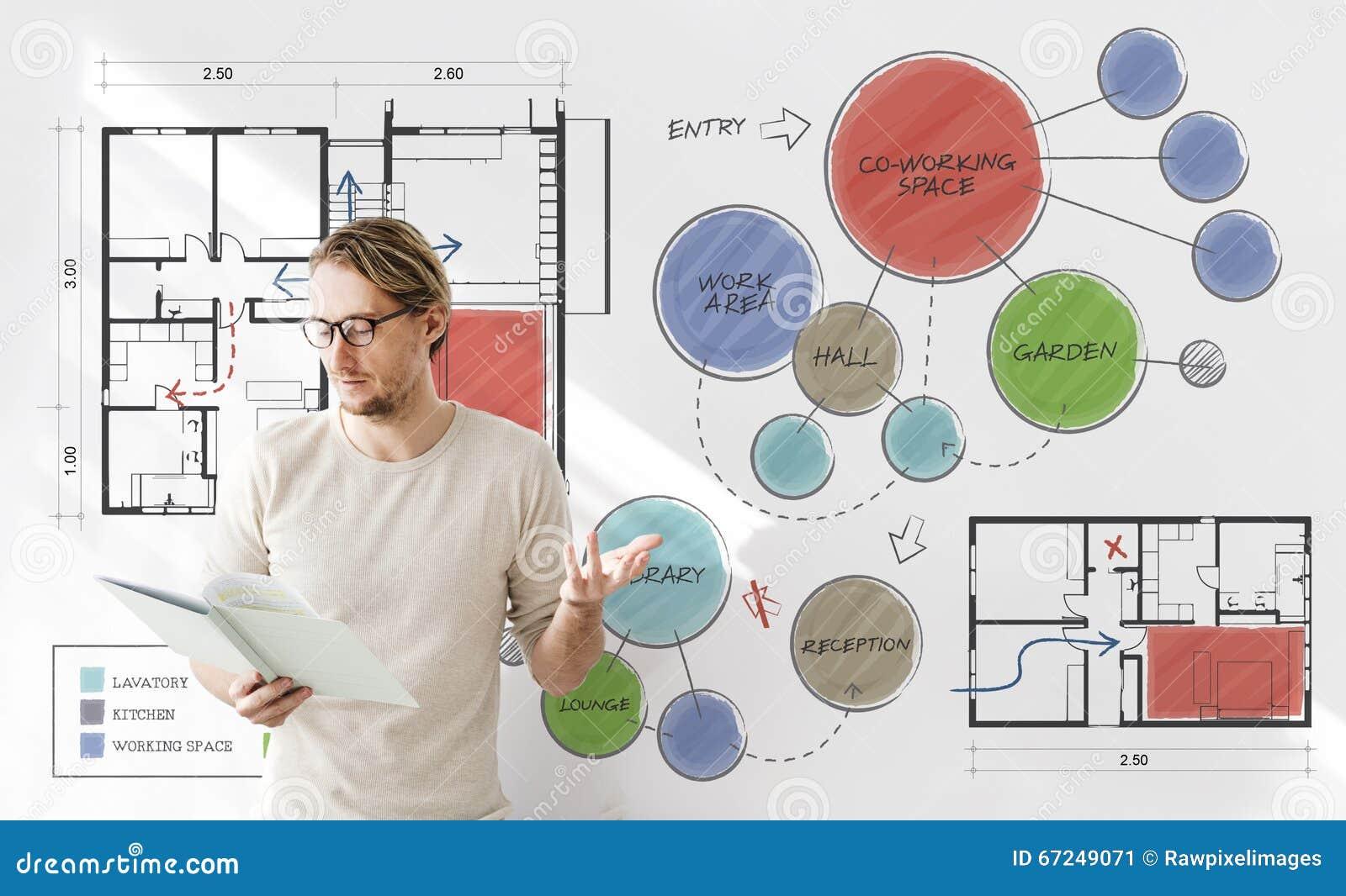 office floor plan sketch drawing concept stock illustration concept drawing floor office plan