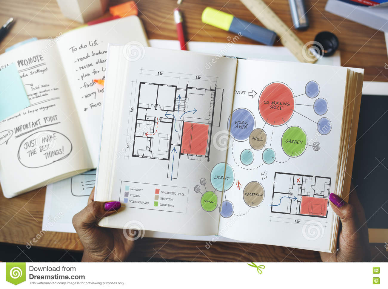 Office floor plan sketch drawing concept stock illustration download comp malvernweather Image collections