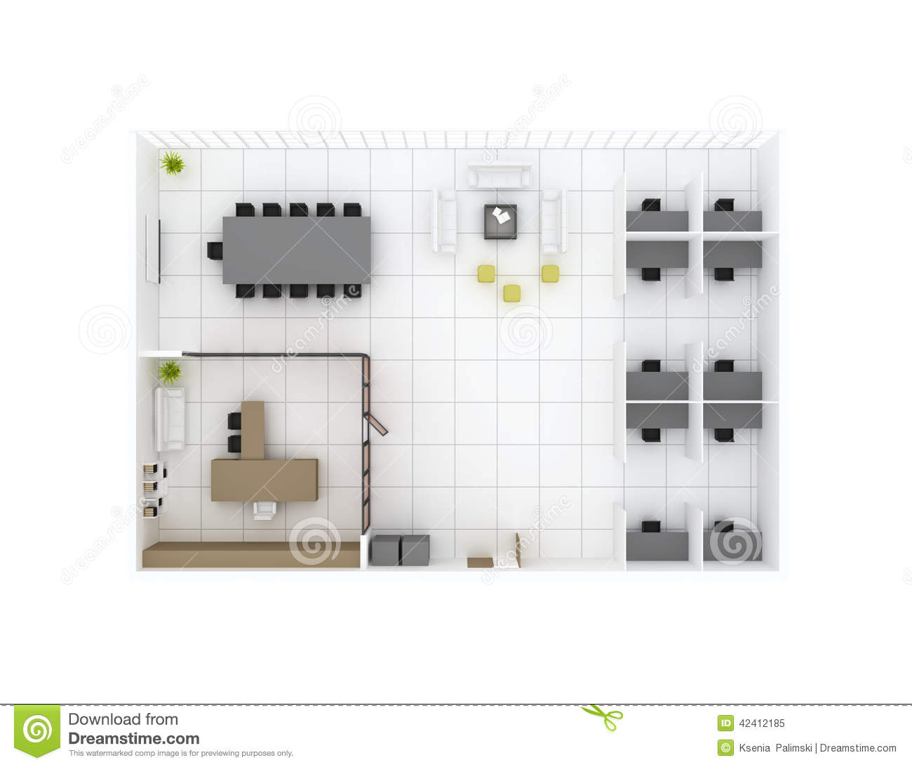 Office floor plan top view stock illustration image for Best room planner
