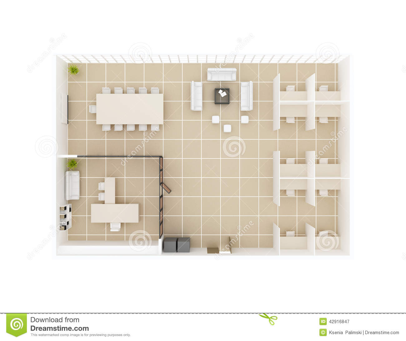 Office floor plan top view stock illustration image of Floor plan view
