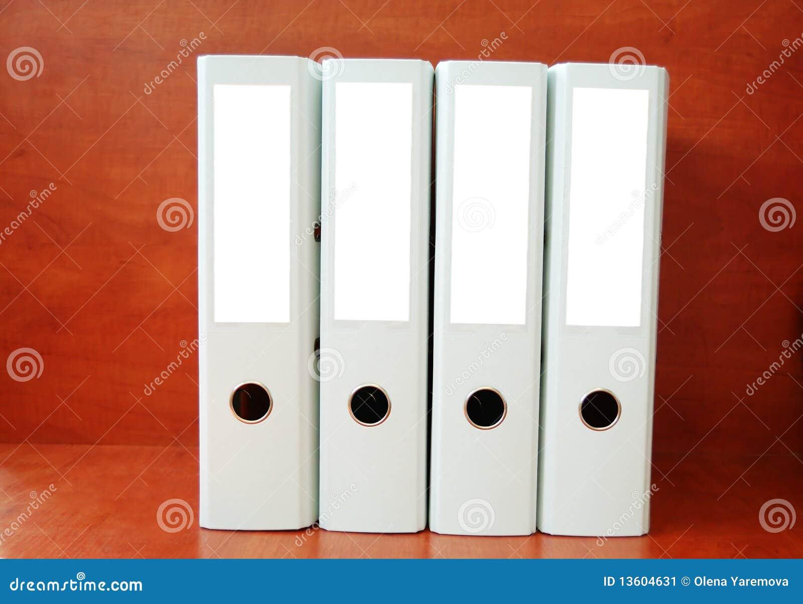 Office Folders Stock Image - Image: 13604631