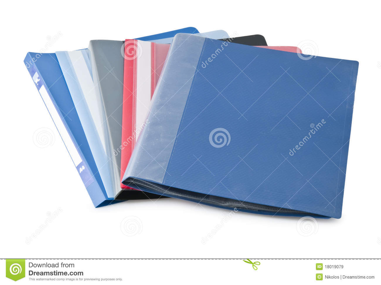 Office Folders Royalty Free Stock Images - Image: 18019079