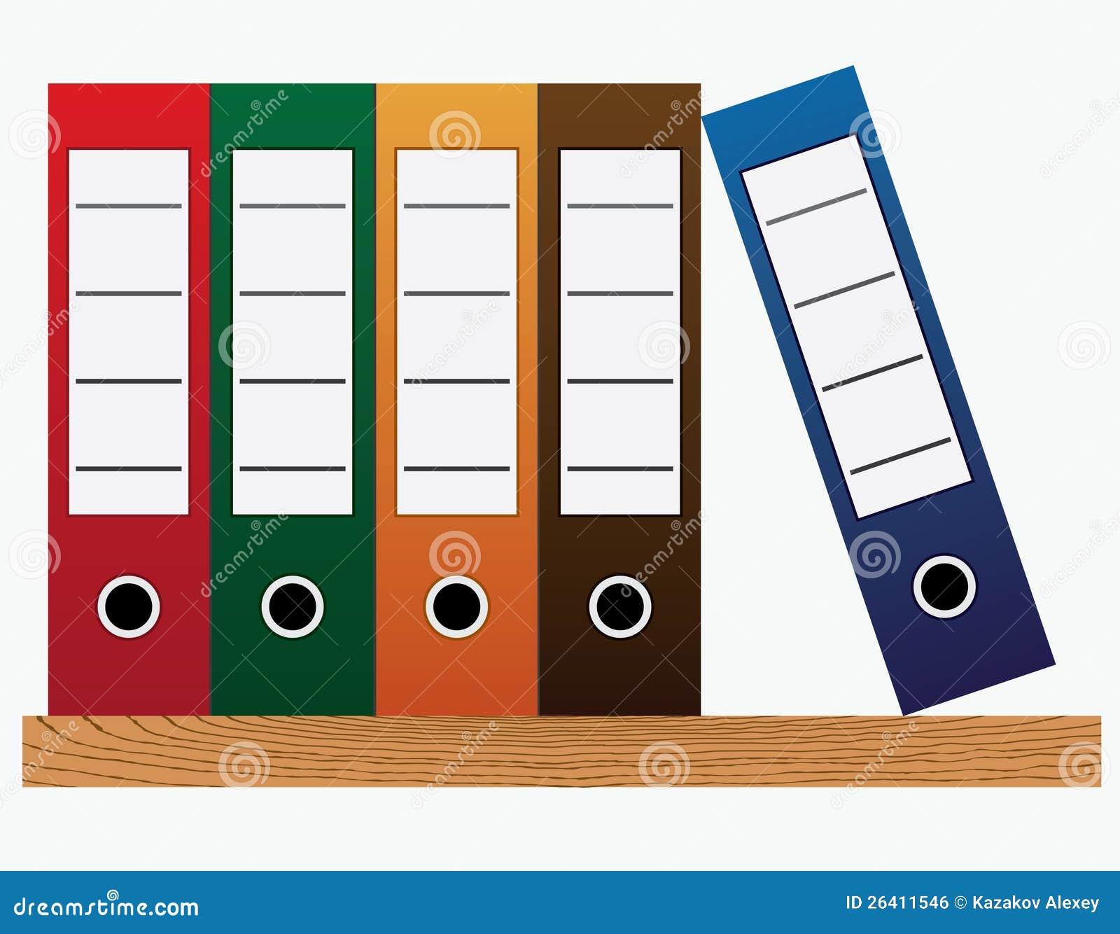 Office Folders. Royalty Free Stock Image - Image: 26411546