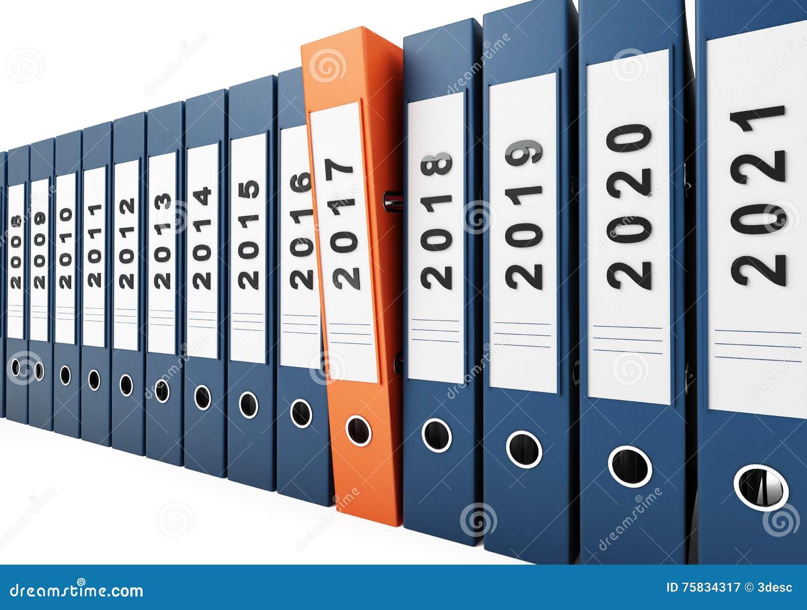 Office Folders New Year 2017 Stock Illustration - Image: 75834317