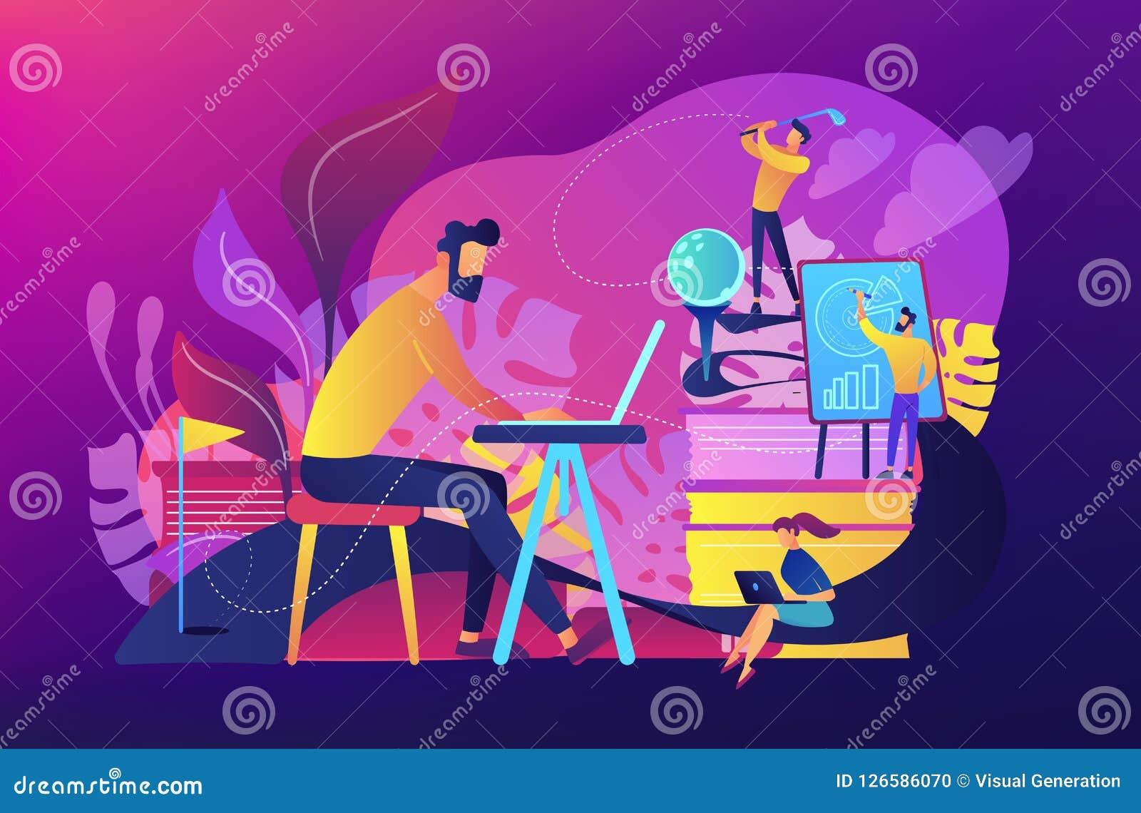 office fun concept vector illustration stock vector illustration