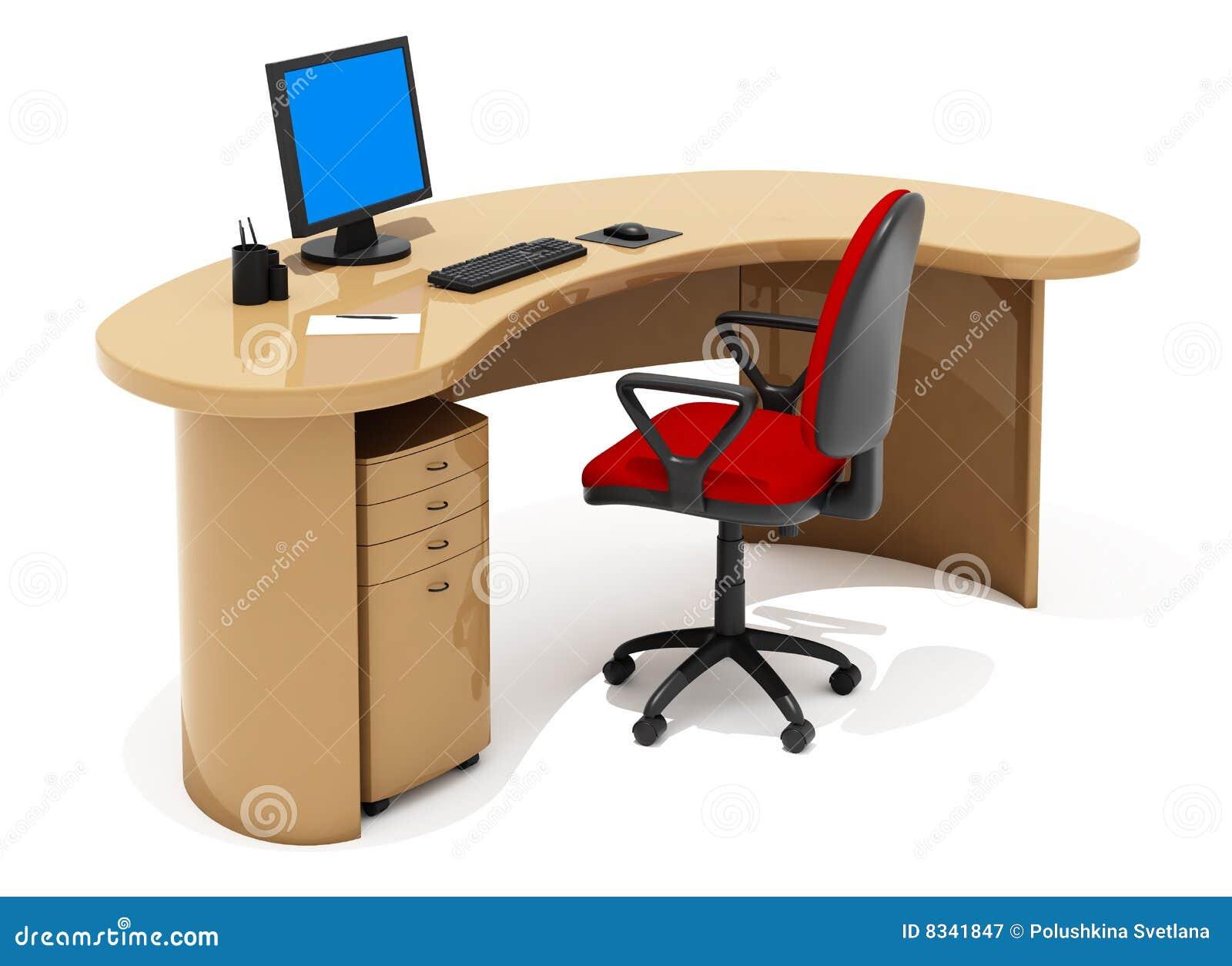 Office Furniture Stock Illustration. Illustration Of Easy