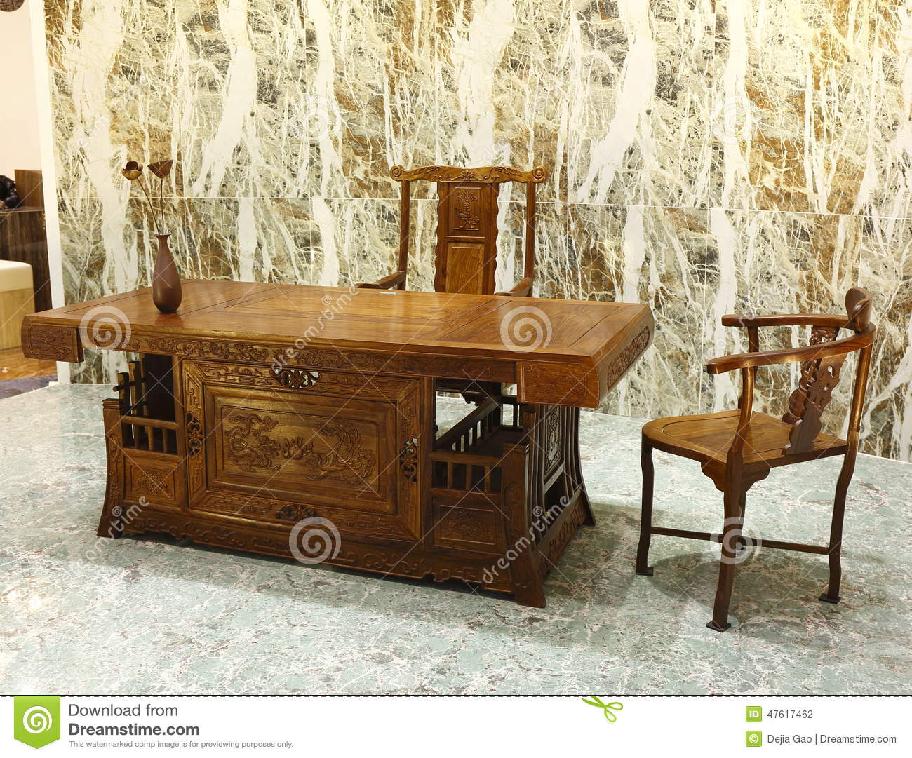 Wooden office furniture in chinese classical style office for Oriental style desk