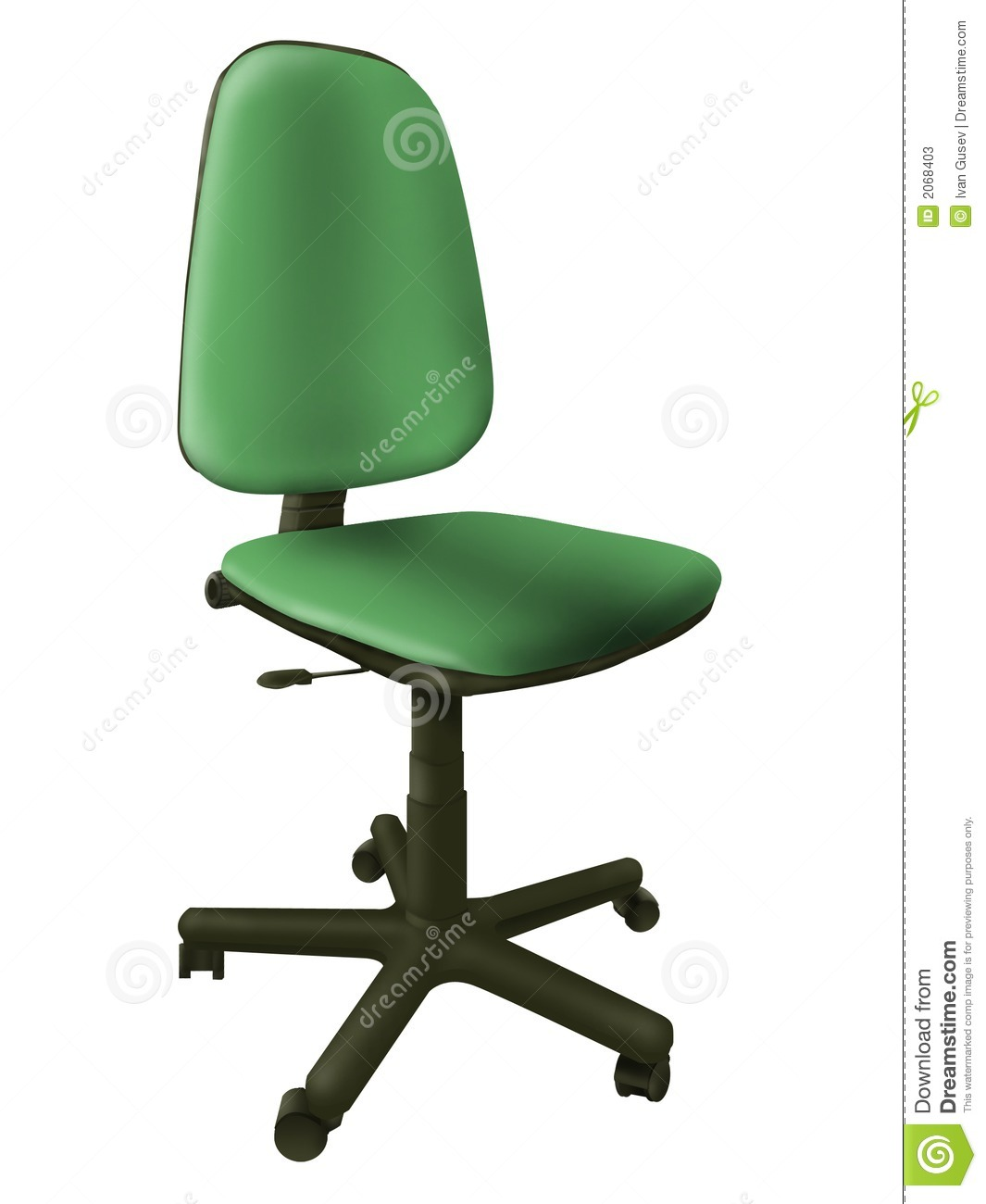 fice Green Chair Stock s Image