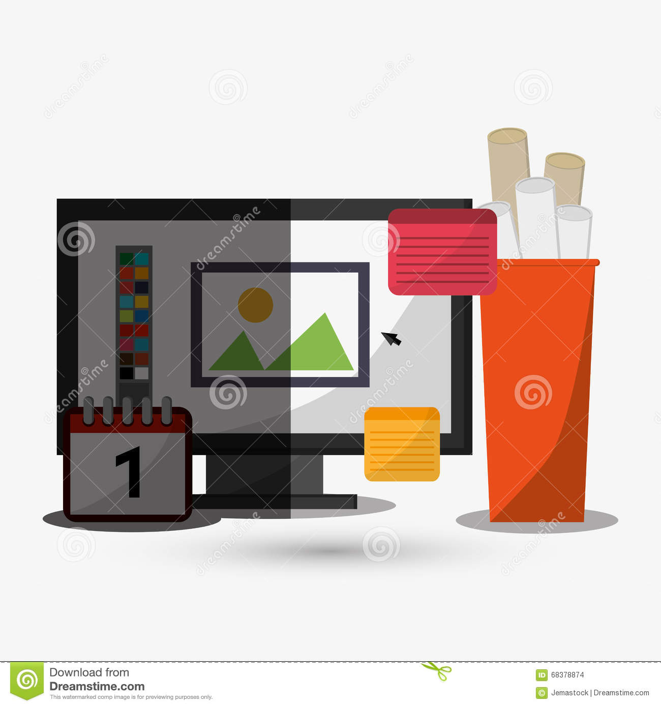 Office icon design stock vector image 68378874 for Office design vector