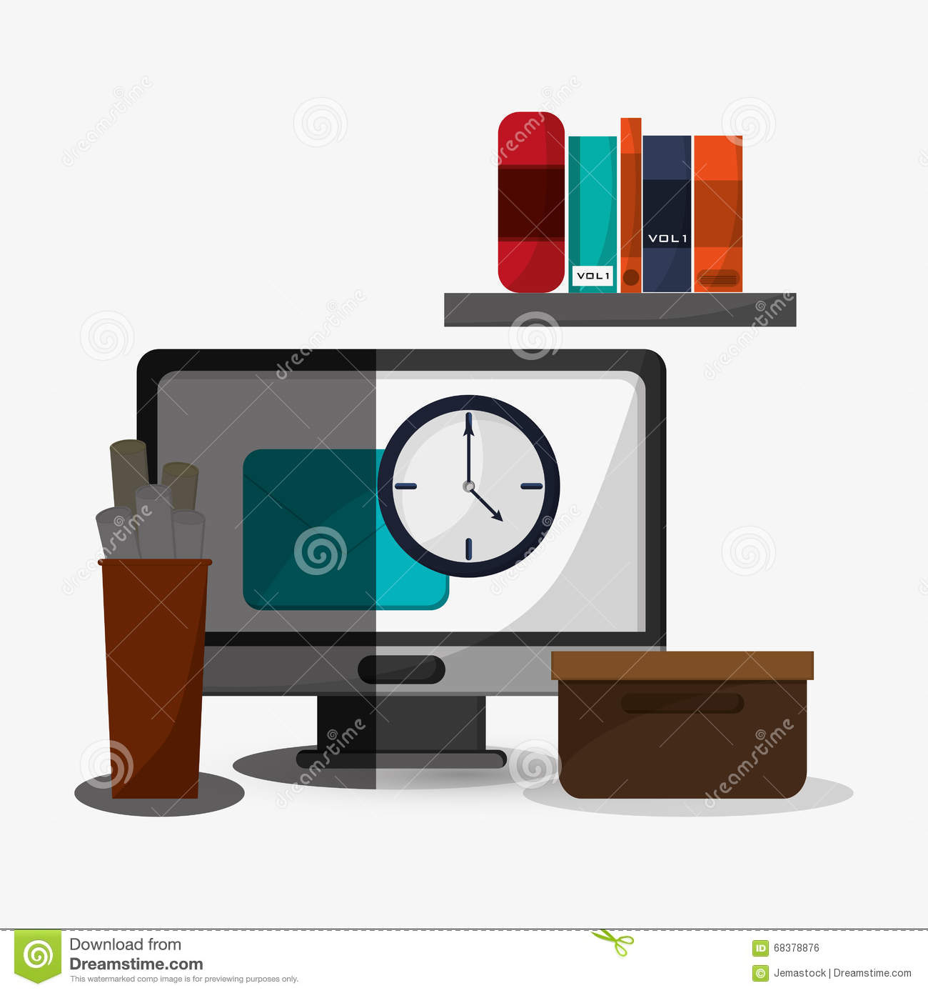 Office icon design stock vector image 68378876 for Office design vector