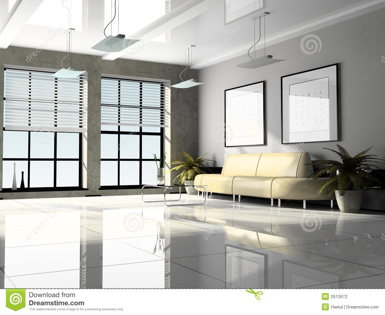 Office interior 3d rendering stock photo image of plate for Office design 3d