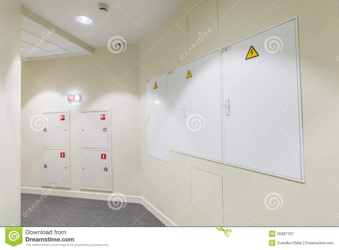 office interior stock image image of dorm, direction 35387707 fuse box location office interior corridor with light colored walls and fire box fuse box