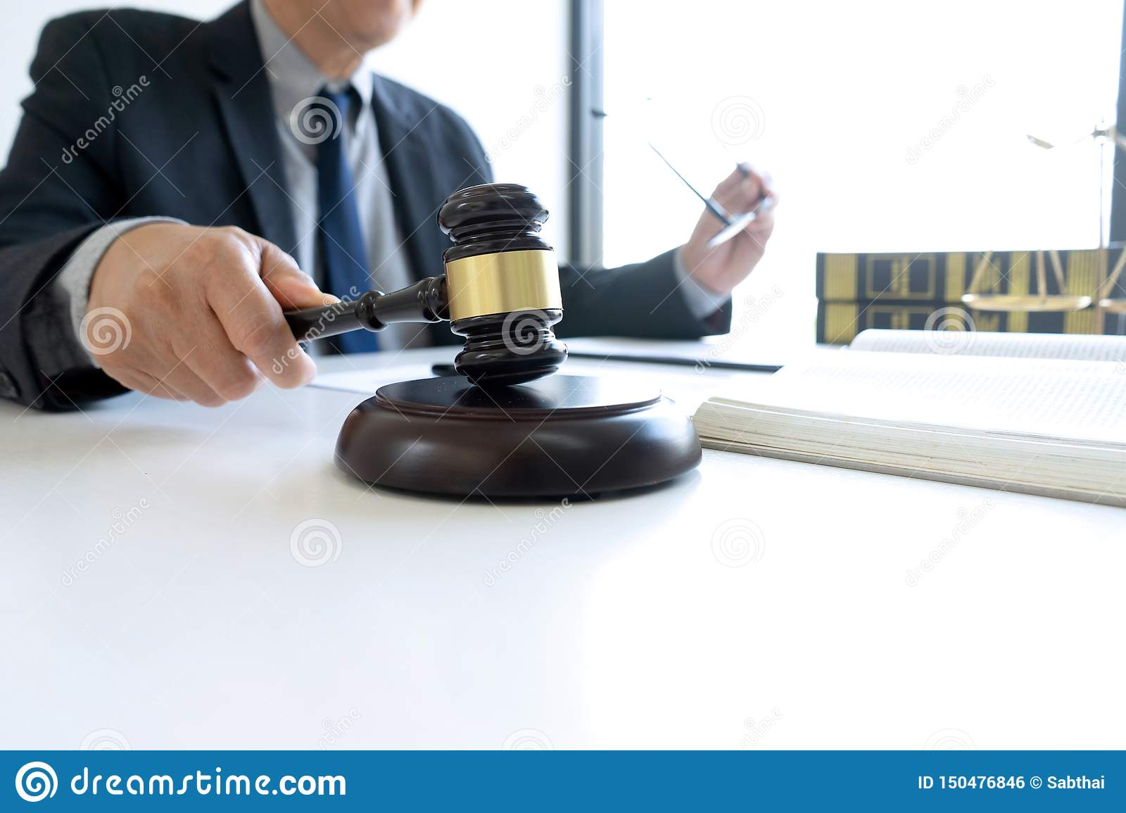 In the office of Judge or lawyer
