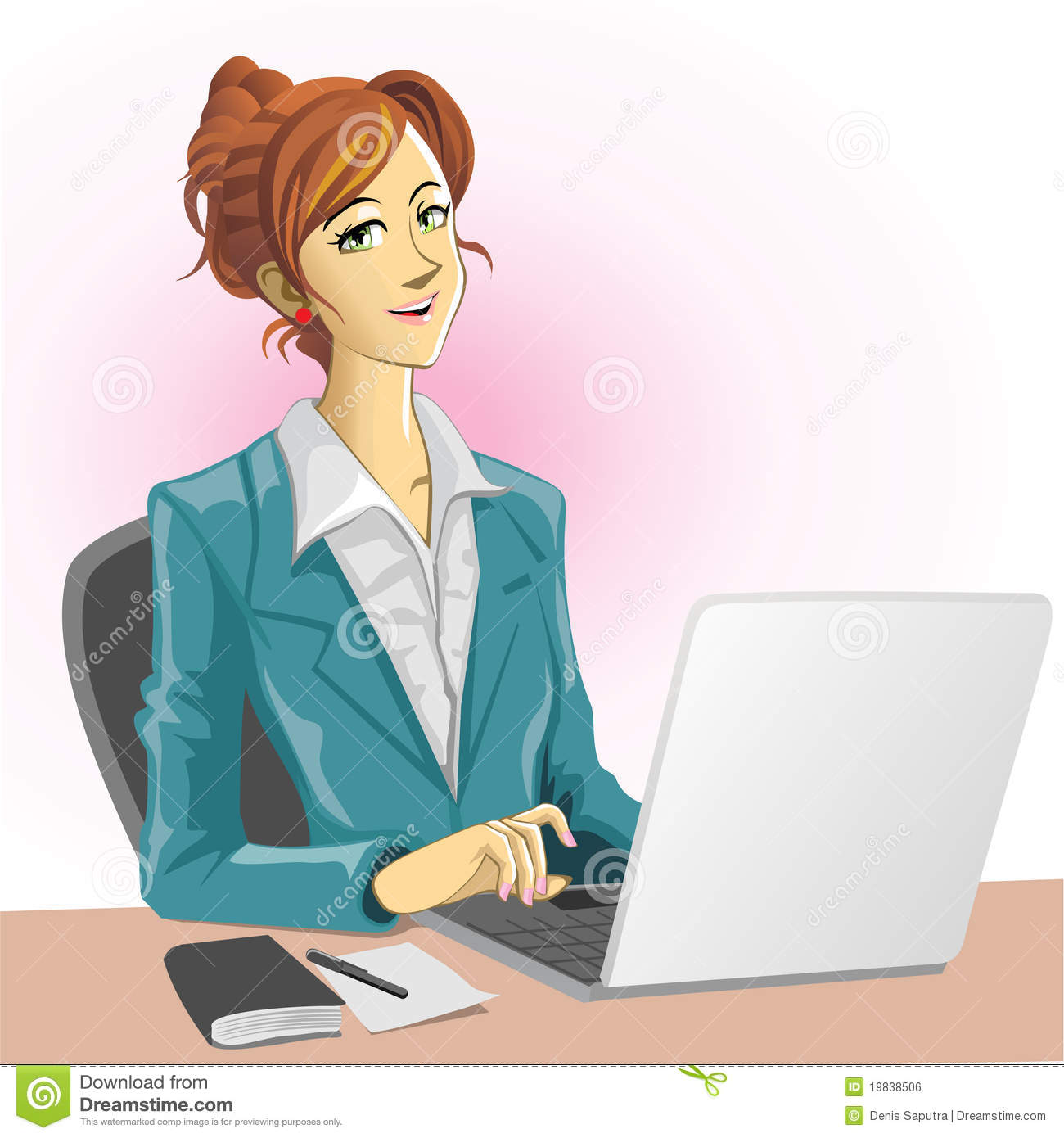Office Lady Royalty Free Stock Image - Image: 19838506