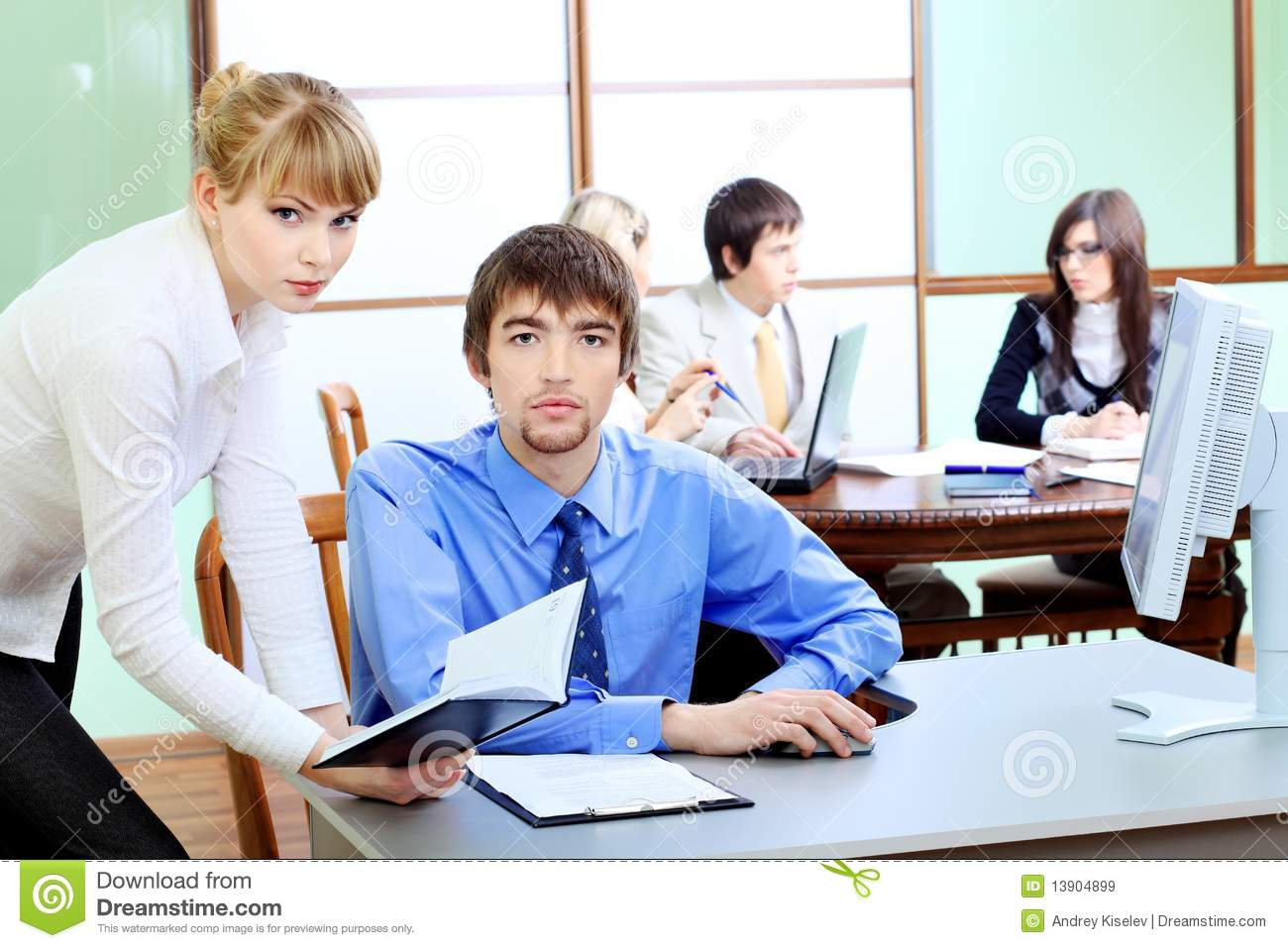 Office Life Stock Image Image Of People Caucasian Corporate