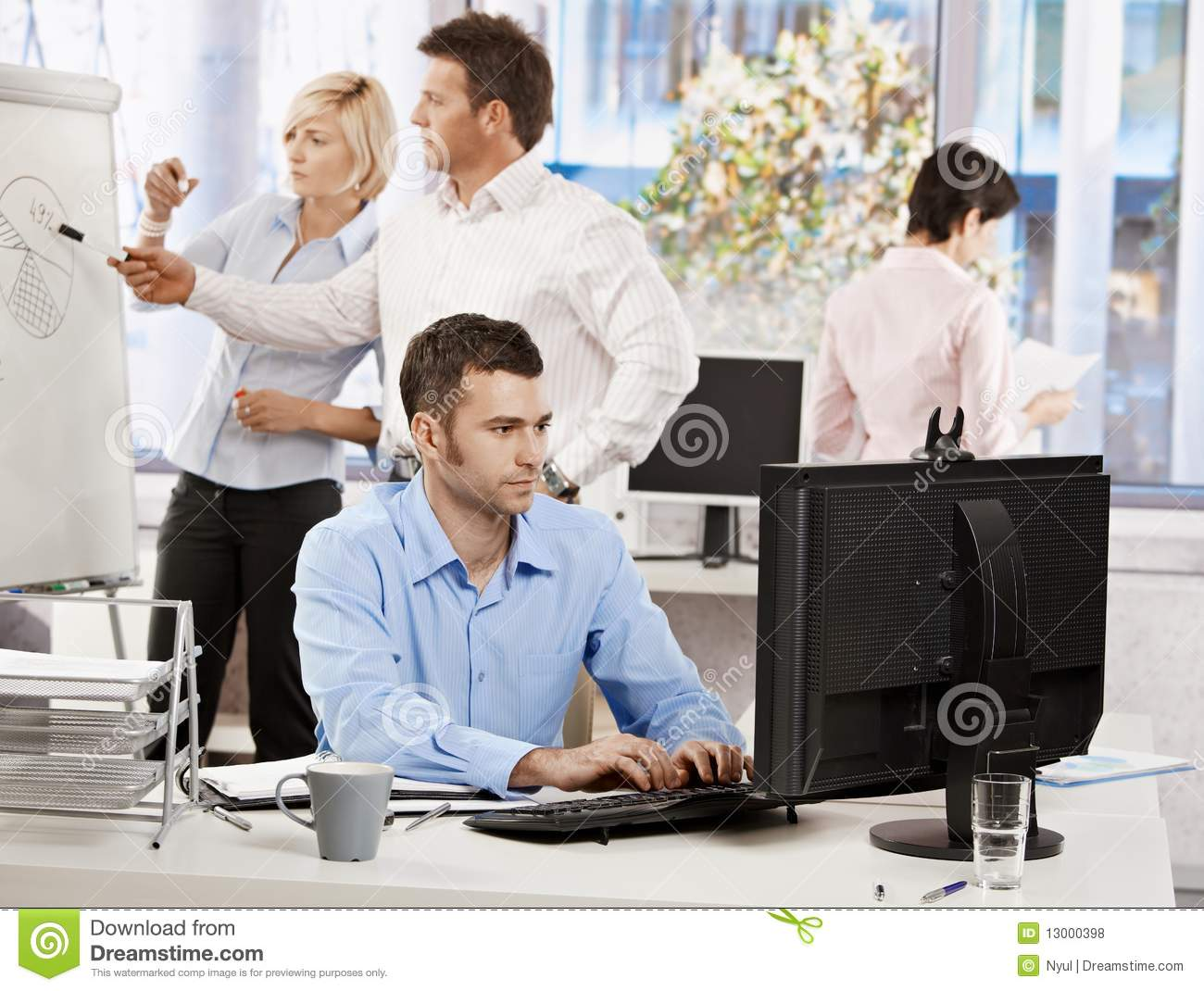 Office Life Business People Working Stock Photo Image Of Bright