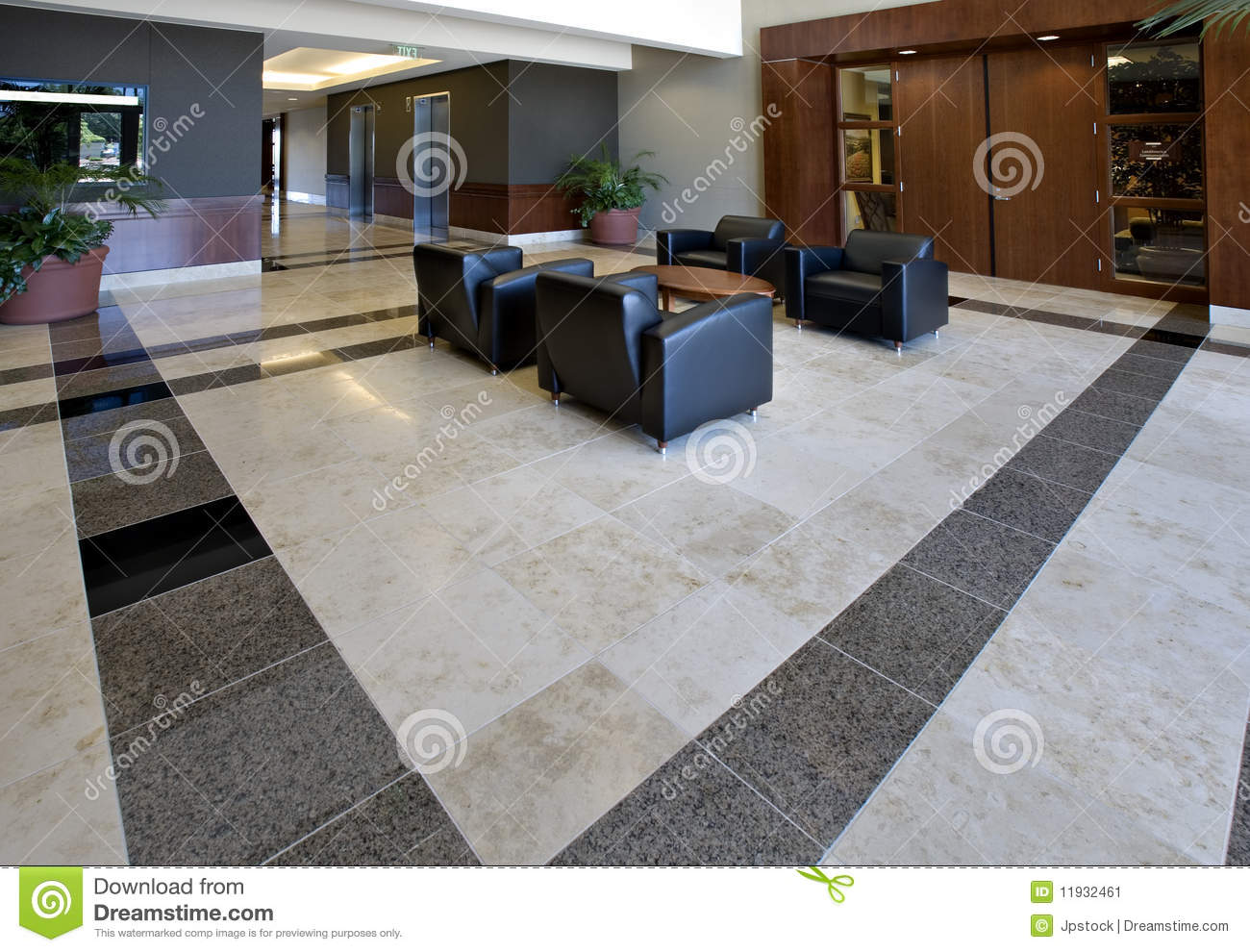 Office Lobby Showing Tile Floor Stock Image Image Of Table