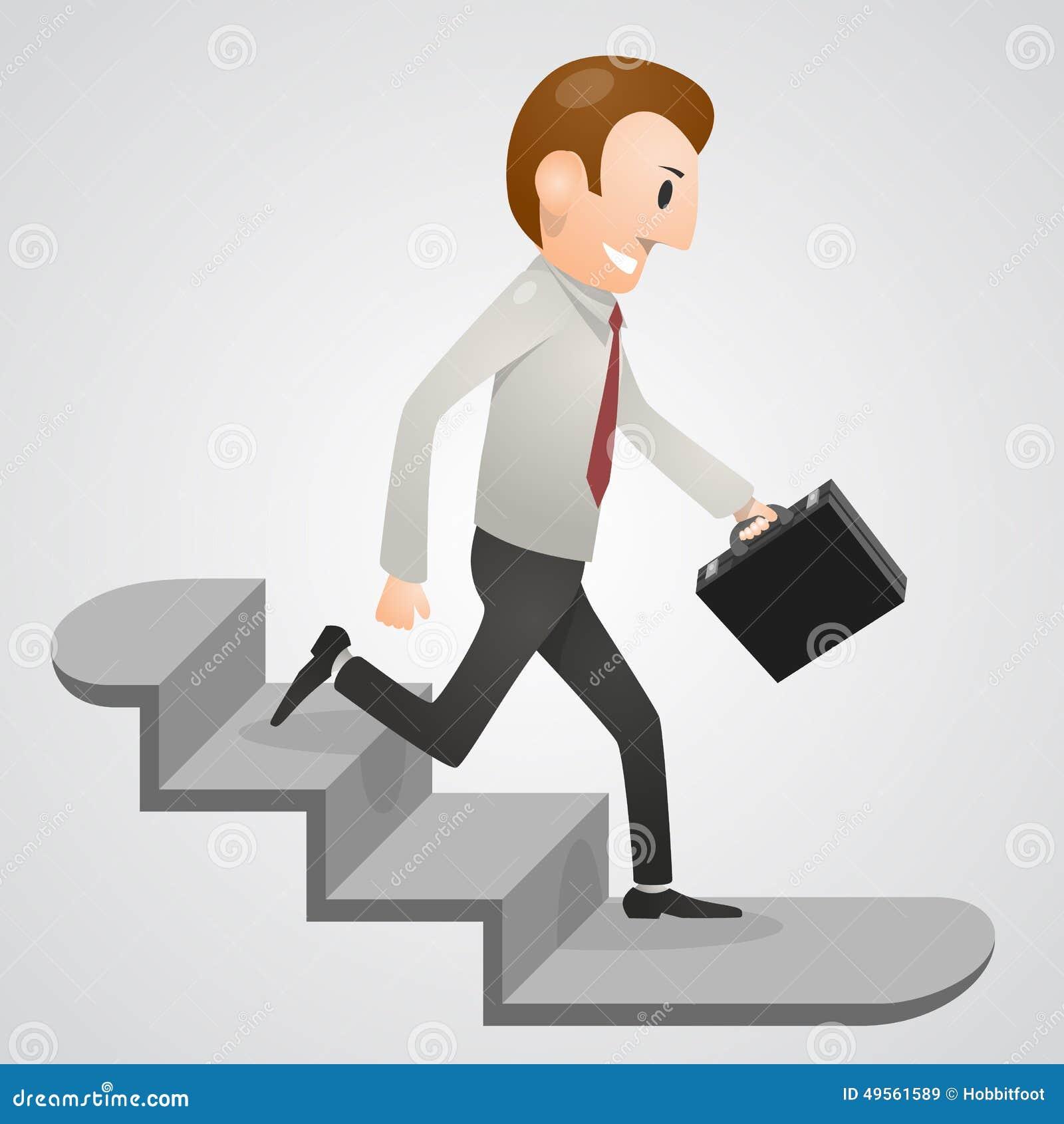 Office Man Running Downstairs Stock Vector - Illustration ...