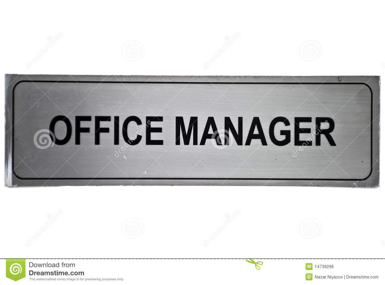 Office Manager Label Royalty Free Stock Image Image