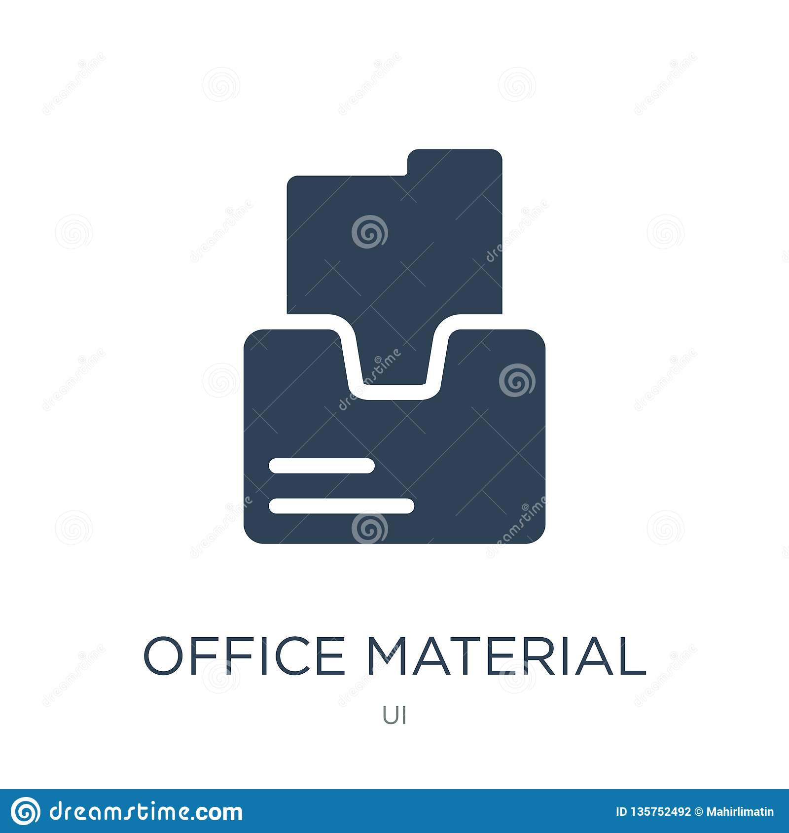 office material icon in trendy design style. office material icon isolated on white background. office material vector icon simple