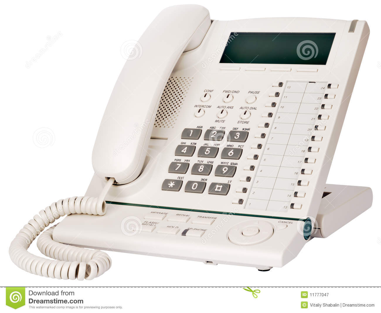 Office Multi-button Telephone Royalty Free Stock Photography ...