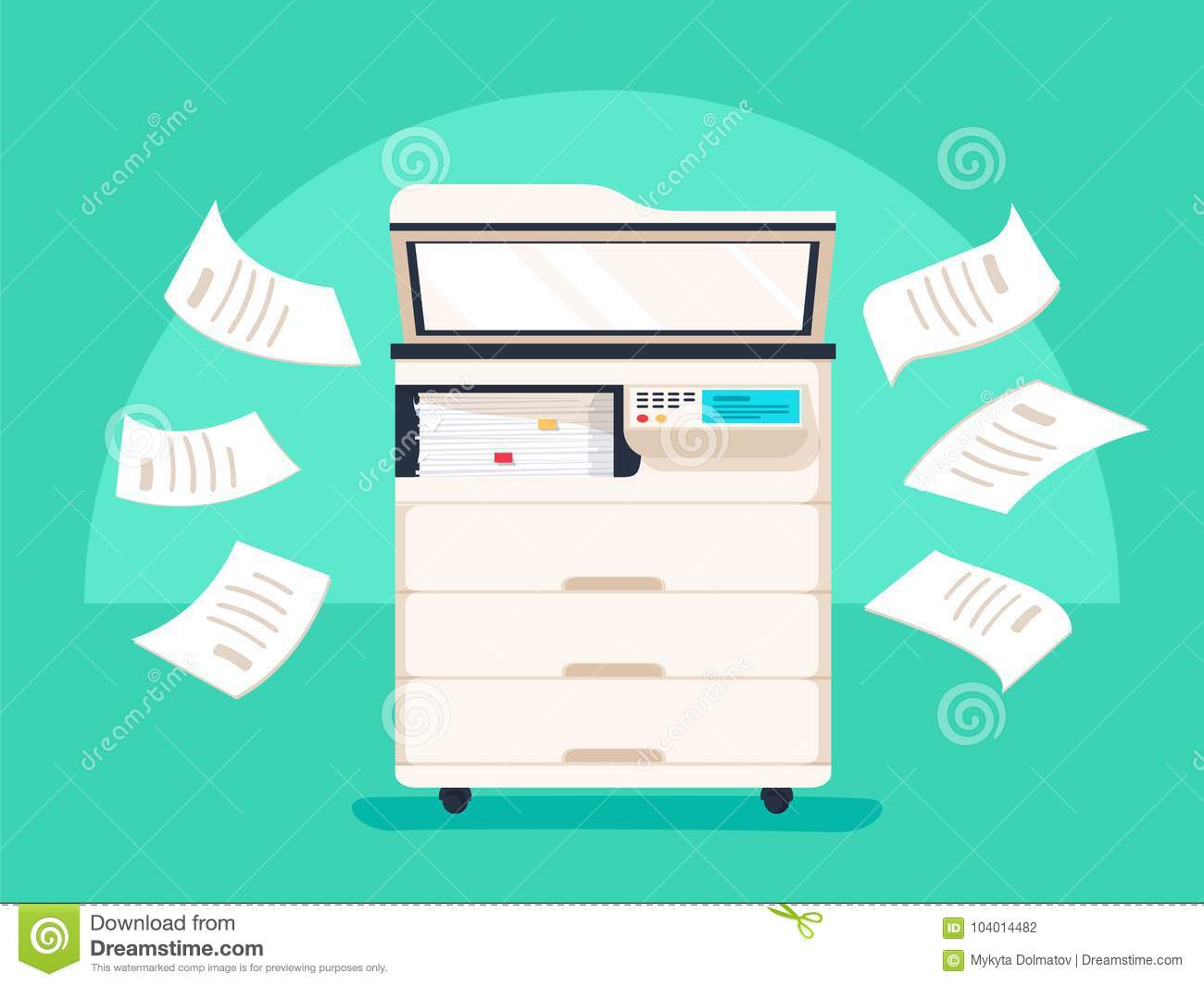 Copier Cartoon Cartoons Illustrations Amp Vector Stock