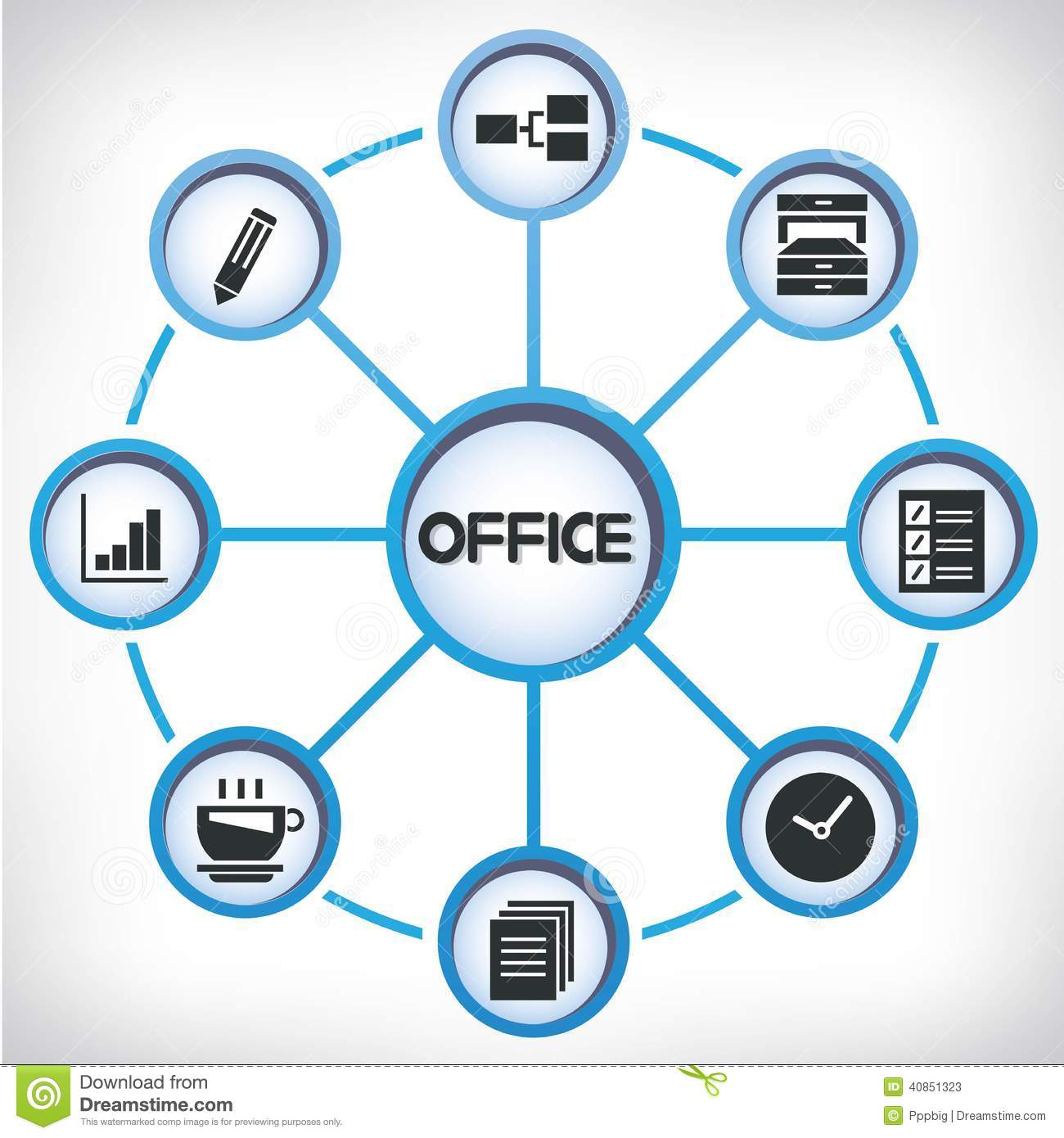 office network diagram stock illustration  illustration of icons