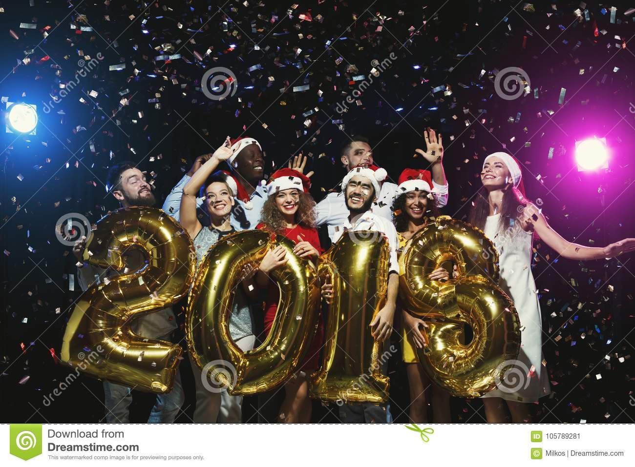 Office New Year Party. Young People Having Fun Stock Image - Image ...