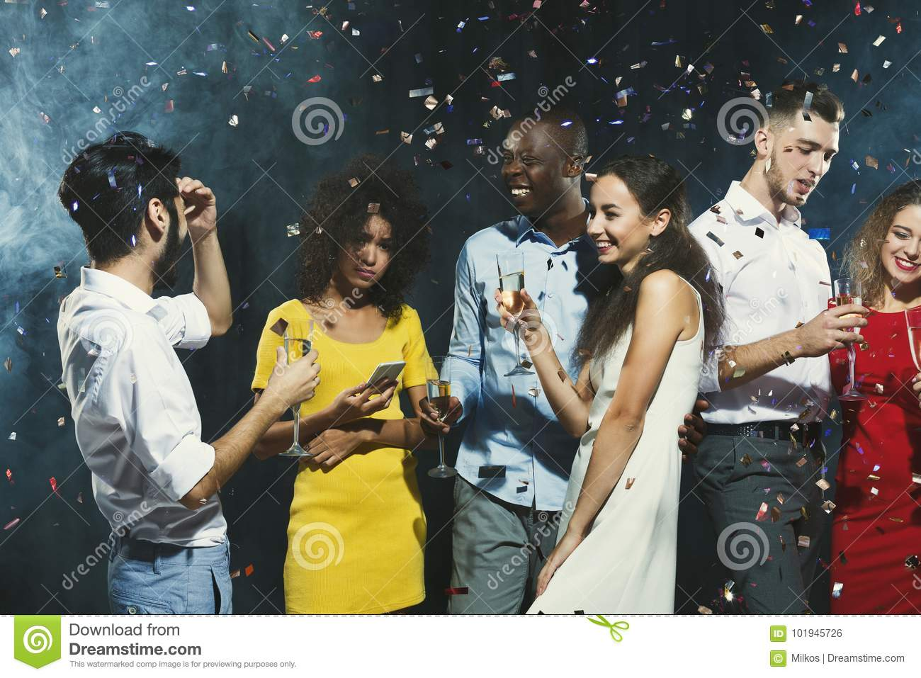 Office New Year Party. Young People Having Fun Stock Photo - Image ...