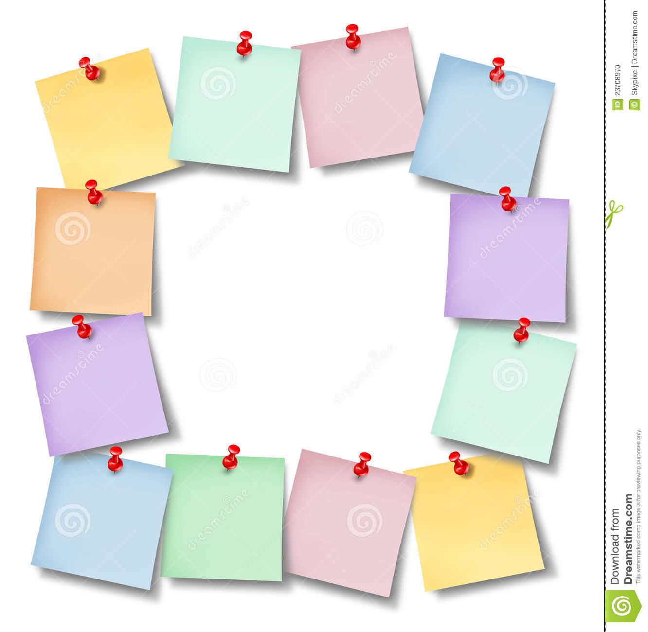 office notes blank frame stock photo image 23708970