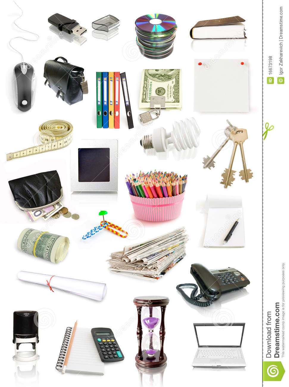 office objects collection stock photo  image of office