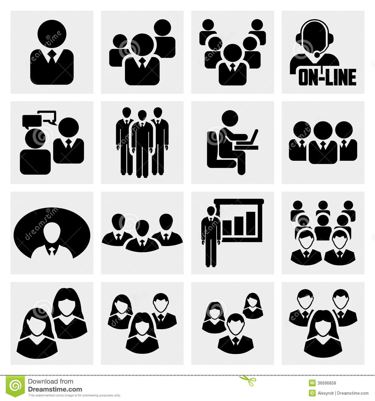Office People Icons Set. Royalty Free Stock Photos - Image: 36696858