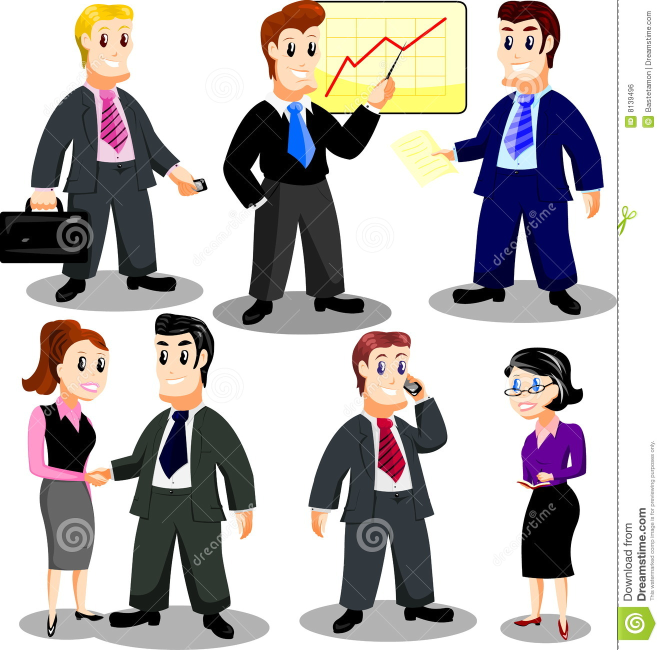 Office personnel stock vector illustration of business for Oficina seguridad social