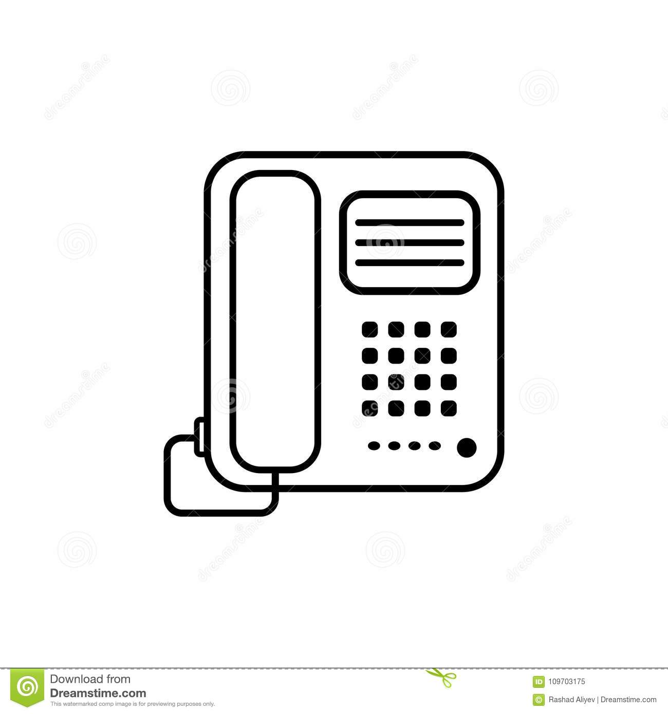 Office Phone Icon  Element Of Home Appliances For Mobile