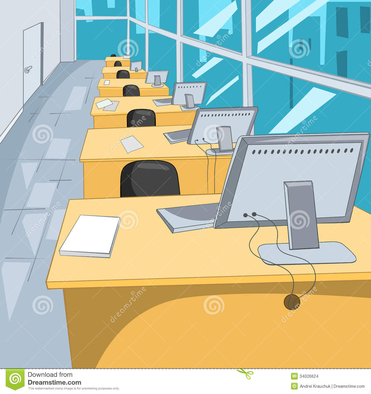 Office Place Stock Images - Image: 34026624