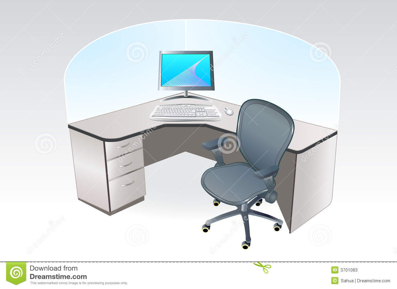Office place cubicle