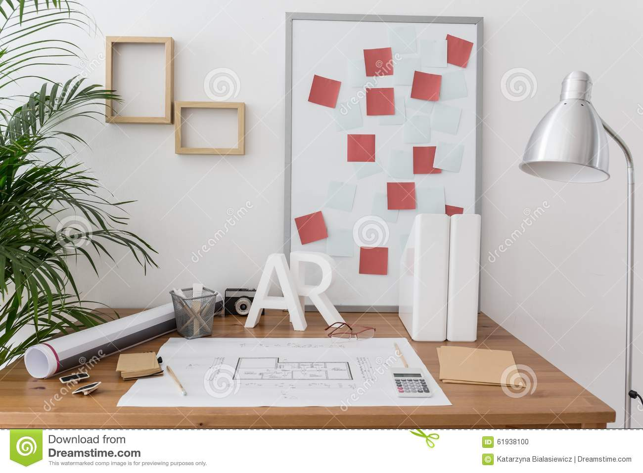 Office Of Professional Home Designer Stock Photo Image